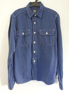 Momotaro Japan Nigel Men Denime Cabourn The Real Wabash Worker Mccoys Shirt 36 S #Momotaro #WabashShirt