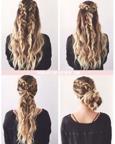 double braided bridal updo ~ we ❤ this! moncheribridals.com