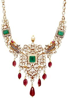 Indian Jewellery and Clothing: Antique temple jewellery collection..