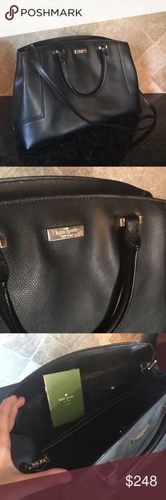 NWT Kate Spade Large Black Fifi Handbag Large black Kate Spade Fifi handbag with detachable long strap. Brand new with original tags. Large purse with plenty of pockets and inside compartments! kate spade Bags Shoulder Bags
