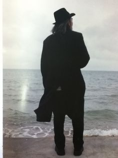 "nero-noir: ""Yohji stands with the horizon ahead of him watching the grey air touch the grey water."" IN my SOLITUDENo.3"