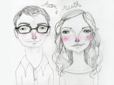 Smart couple portraits by TuesdayMourning.. Strangely, this looks like my artwork...