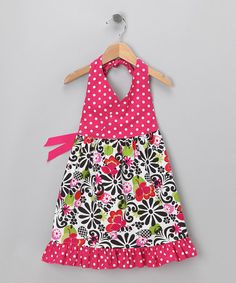 So cute!! Swirly Floral Halter Dress by Beary Basics