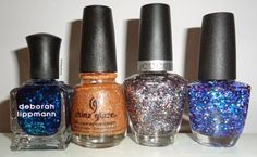 GIVEAWAY: Glitter polishes from Deborah Lippmann, China Glaze, Cuccio Colour and Nanacoco http://www.writingbeauty.com/2015/02/giveaway-glitter-polishes-from-deborah.html