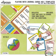 Playing With Journal Cards #03 | Templates