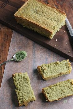 Matcha Green Tea Pound Cake, a naturally dyed loaf cake perfect for #StPatricksDay