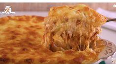 SUPER Batata Gratinada com Frango e Queijo ( VERSAO RAPIDA ) - Receitas Nota 1000 Carne, Apple Pie, Macaroni And Cheese, Bacon, Food And Drink, Low Carb, Cooking Recipes, Tasty, Favorite Recipes