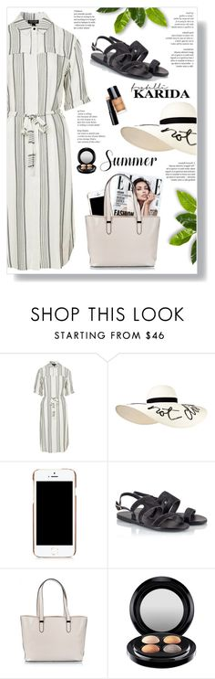 """Fratelli Karida"" by yexyka ❤ liked on Polyvore featuring Topshop, Eugenia Kim, Moschino, Ancient Greek Sandals, Coccinelle and MAC Cosmetics"