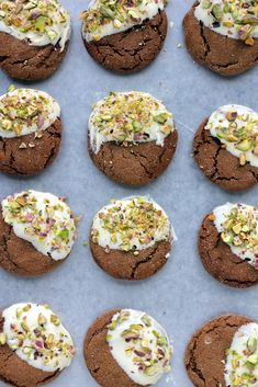 White-Chocolate Dipped Brown Butter Ginger Cookies with Pistachios