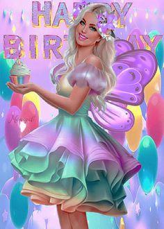 Happy 42nd Birthday, Cute Happy Birthday, Happy Birthday Celebration, Happy Birthday Messages, Happy Birthday Greetings, Happy Birthday Cakes, Birthday Girl Quotes, Birthday Pins, Girl Birthday