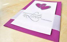 Hochzeitskarten mit Embossing Technik - Individuelle Karten selber machen