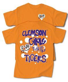 Clemson girls LOVE their Tigers!