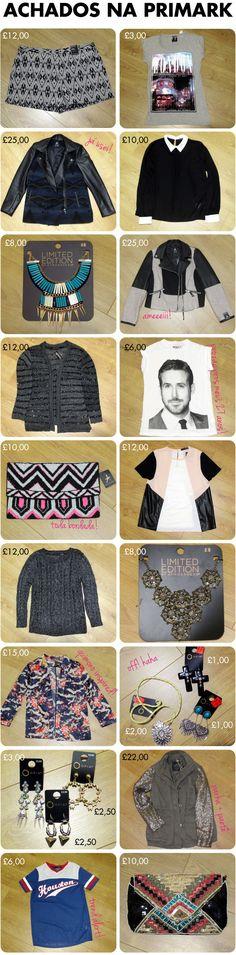 Achados, primark, londres, compras, london, shopping, preço, barato, tendência, loja, roupas, bijoux