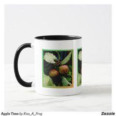 Shop Apple Time Mug created by Kiss_A_Frog. Coffee Travel, Travel Mug, Cool Mugs, Tea Cups, Coffee Mugs, Tableware, Dinnerware, Coffee Cups, Tablewares