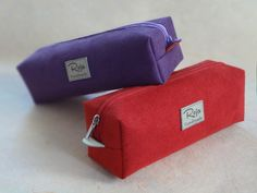 Suede Pencil / Cosmetic Pouches