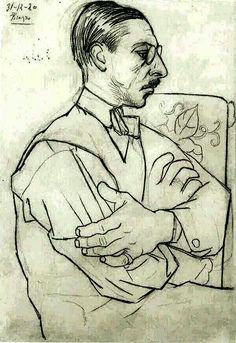 Picasso sketch of Stravinski