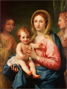 Madonna and Child with Two Angels - Raphael