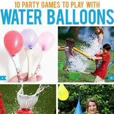 Here are 10 fun party games you can play with water balloons this summer! These games will be a big hit for all ages: 1. Water Balloon Spoon Races via Two Shades Of Pink – All you need to stage this race are some wooden spoons from the dollar ...