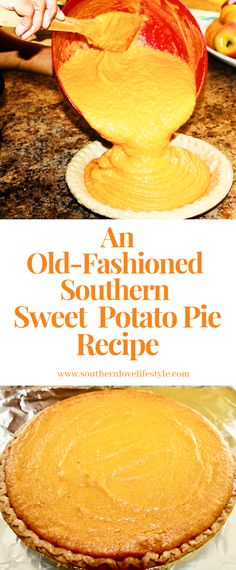 An Old-Fashioned Southern Sweet Potato Pie Recipe - Hey Y'all! In this post I wanted to make an old-fashioned Southern Sweet Potato Pie. Homemade Sweet Potato Pie, Vegan Sweet Potato Pie, Homemade Pie, Homemade Desserts, Delicious Desserts, Southern Sweet Potato Pie, Old Fashion Sweet Potato Pie Recipe, Soul Food Sweet Potato Pie Recipe, Canned Sweet Potato Recipes