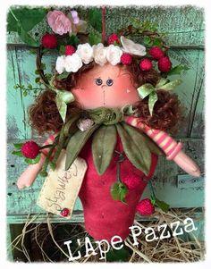 Cartamodelli Bambole primavera 2016 : cartamodello Folletta fragolina