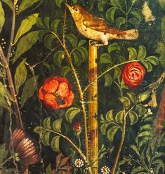 Roman garden painting (Detail), first century A.D. in Casa del Bracciale d'Oro, Pompeii.