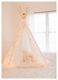 Gorgeous Lace Edge Photography Teepee Tent - Photo Prop - Play Tent - Intro Sale - Shabby Chic. $70.00, via Etsy.