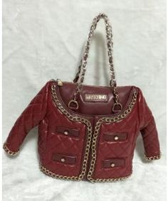 dd62e101ba0 Moschino Jacket Women Medium Leather Tote Red Moschino Bag, Balenciaga City  Bag, Spongebob,