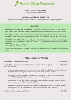 Fine digital marketing executive resume! See more samples on our site http://www.resumeeditingservice.com