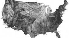 Wind Map, Designed by Fernanda Viegas & Martin Wattenberg.