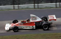 Emerson Fittipaldi (BRA) (Marlboro Team Texaco), McLaren M23 - Ford-Cosworth DFV 3.0 V8 (RET)  1974 German Grand Prix, Nürburgring Nordschleife