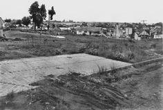 Praça do Japão e o Bairro da Água Verde em 1962 (Arquivo Cid Destefani)