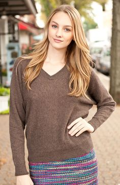 Minnie Rose Slim Dolman Sleeve Cashmere Sweater