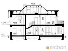Dom w wiciokrzewie Architecture Design, New Homes, Floor Plans, House Design, Flooring, American Houses, House Construction Plan, Projects, Architecture Layout