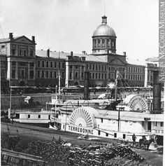 """Terrebonne"" and Bonsecours Market, Montreal harbour, QC, about 1875 Quebec Montreal, Old Montreal, Montreal Ville, Quebec City, Vintage Pictures, Old Pictures, Old Photos, Monuments, Photo Vintage"