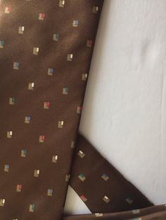 Vintage Hardy Amies London tie, brown silk vintage tie, multi-colored vintage silk tie, vintage silk necktie, Hardy Amies necktie, brown tie by SweetBeanVintage on Etsy