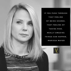 If you push through that feeling of being scared that feeling of taking risk really amazing things can happen. - Marissa Mayer  #everythingtheydid #leadership #leader #leaders #worldchangers #societyrebel #traits #qualities #trendsetters #influencer #boss #career #innovative #servantleader #entrepreneur  #focus #confidence #successful #challenge #action #attitude #motivation #development #leaderquotes #inspiration #wisdom #purpose #lead #results #marissamayer