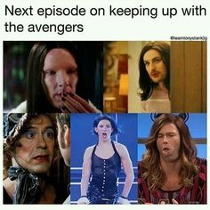 // avengers // marvel // funny // On the next episode of keeping up with the Avengers.oh dear lord Avengers Humor, Marvel Jokes, Funny Marvel Memes, The Avengers, Dc Memes, Funny Memes, Loki Meme, Hilarious, Loki Funny