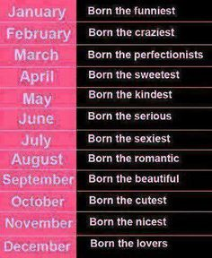 Comment your birthday month