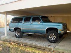 1989 Suburban 87 Chevy Truck, Chevy 4x4, Gm Trucks, Cool Trucks, Old Wagons, The 'burbs, Gm Car, Chevrolet Suburban, Square Body