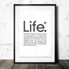 life poster från Konstgaraget hos ConfidentLiving.se