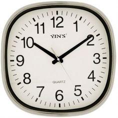 Relógio de Parede Yins YI15060 Prata 30cm - Megazim