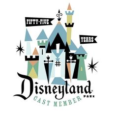 Logo for cast members commemorating 55th anniversary of Disneyland. #disneyland…