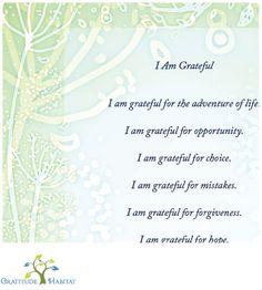 I am grateful..............