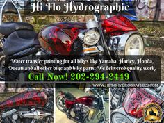 Affordable #watertransferprinting for all bikes like #Yamaha, #Harley, #Honda #Ducati and all other bike and bike parts. Call now for more details 202-294-2449