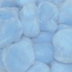 1.5 inch Light Blue Craft Pom Poms 50 Pieces