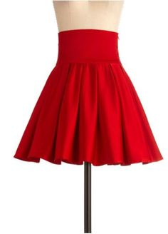 spinny red skirt
