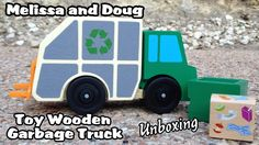 Melissa and Doug Toy Wooden Garbage Truck - UNBOXING