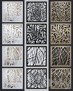 models: Other decorative objects - Set of decorative Living Room Partition Design, Room Partition Designs, Railing Design, Door Design, Jaali Design, Decorative Screen Panels, Wooden Partitions, Cnc Cutting Design, Laser Cut Panels