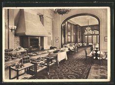 old postcard: AK Berlin, Hotel Adlon, Innenansicht mit Adlon Grill
