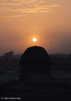 The Great Sphinx gazing to the sun at dawn on the Spring Equinox